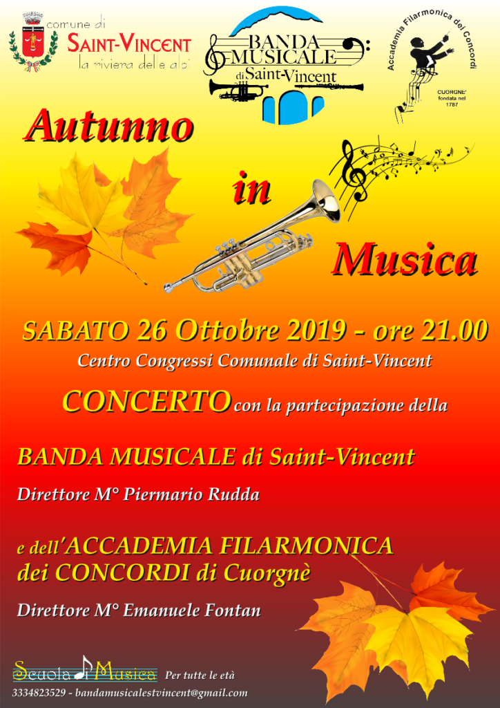 Autunno in musica a Saint-Vincent