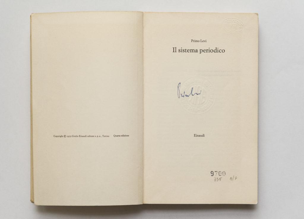 Libro autografato Primo Levi