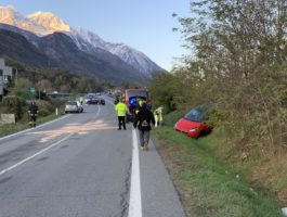 SS26 bloccata per incidente stradale a Chambave