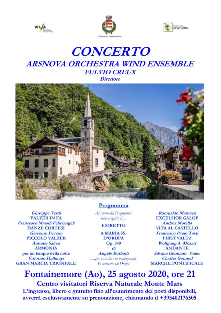 Arsnova Orchestra Wind Ensemble a Fontainemore